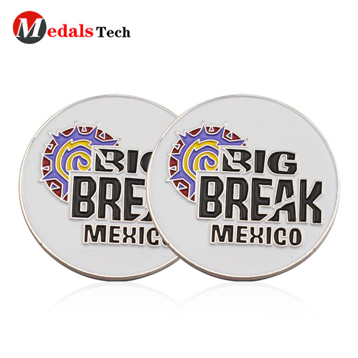 China manufacturer gold custom sports magnet metal golf ball marker