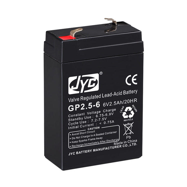 ISO CE RoHS TLC Authenticated VRLA 6 Volt 6V 2.5Ah Battery
