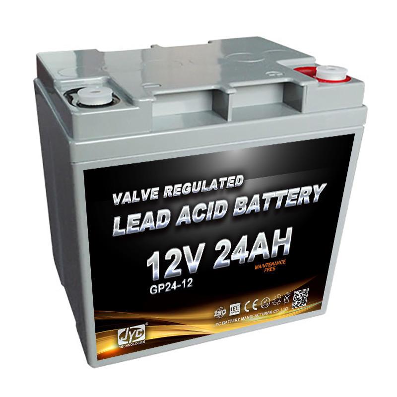 power safe rechargeable long life 12v 24ah vrla battery