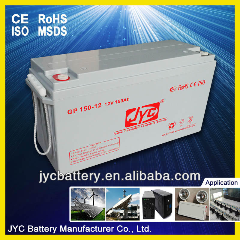 Maintenance Free Sealed Deep Cycle Rechargeable Battery 12v 150ah Solar Lead Acid Battery for Solar System