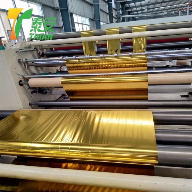 Gold metalized pet thermal lamination film
