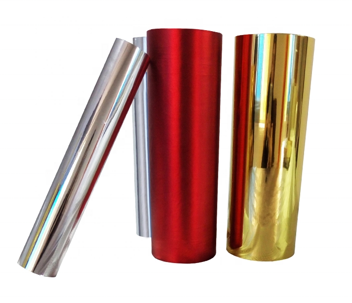Matt Gold Pet Metalized Thermal Lamination Films For Printing