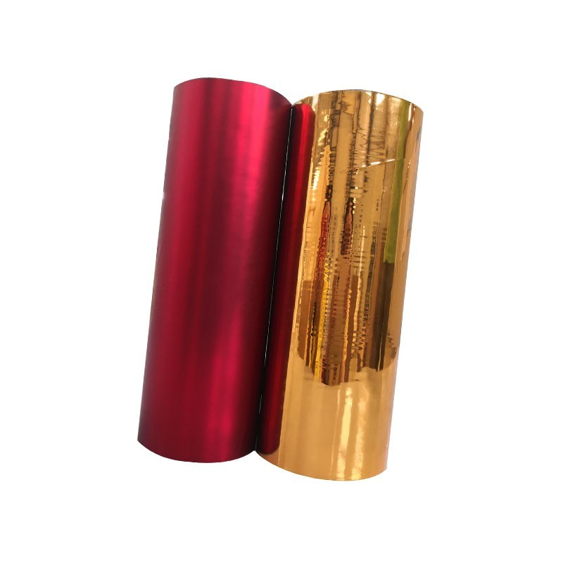 thermal rolls 24 Micron Polyester Metallized Pet Thermal Laminating Film Corona Treatment