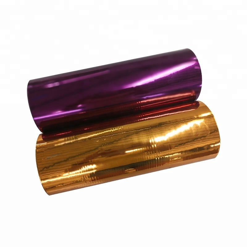 PET Sliver Gold Iridescent Rainbow Metalized Polyester Reflective Thermal Laminating Film