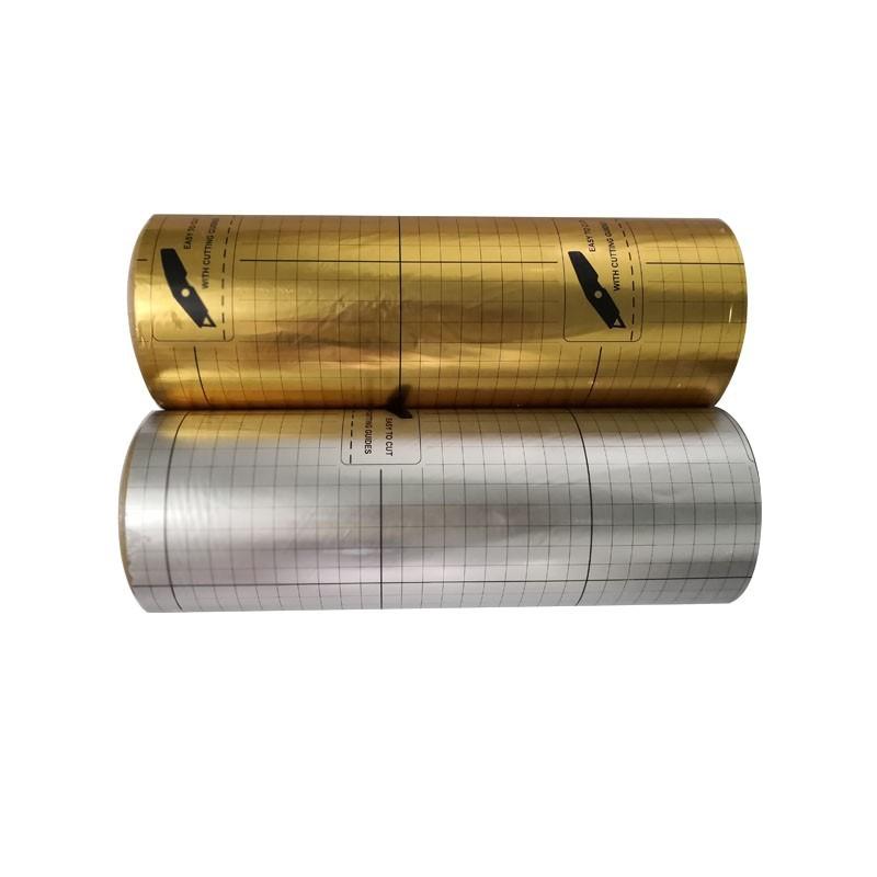 CN factorycorona treated printable metallized aluminum pet film / pet mirror metallic polyester film roll thermal lamination