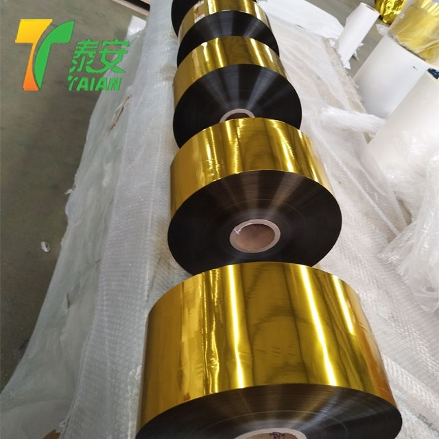Gloss Gold Pet Metalized Thermal Lamination Films For Printing