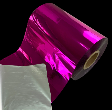 PET purple metallized thermal lamination film with double sides corona treatment
