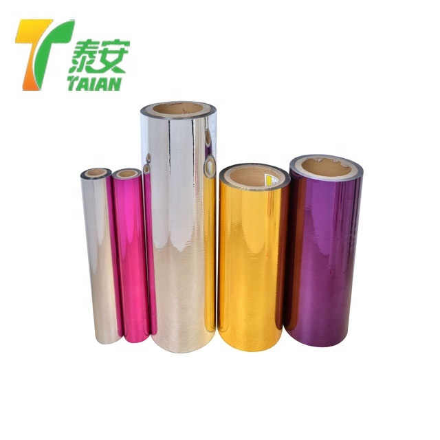 12micron Colored Coated MPET Metalized Polyester Laminating Film