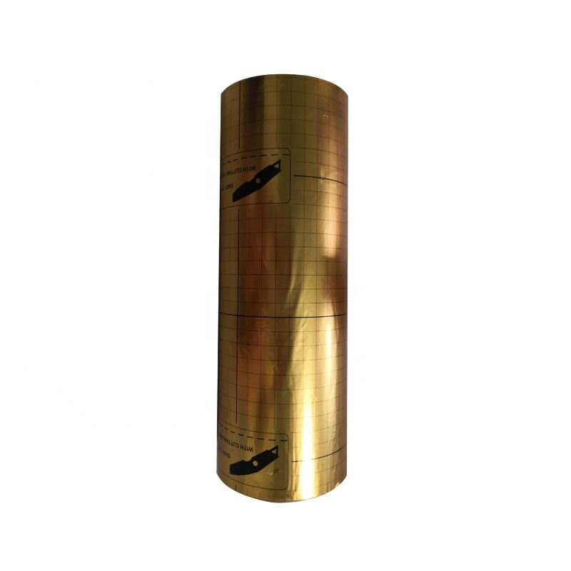golden Polyester Metalized Thermal Lamination Film Roll Film For Package Material