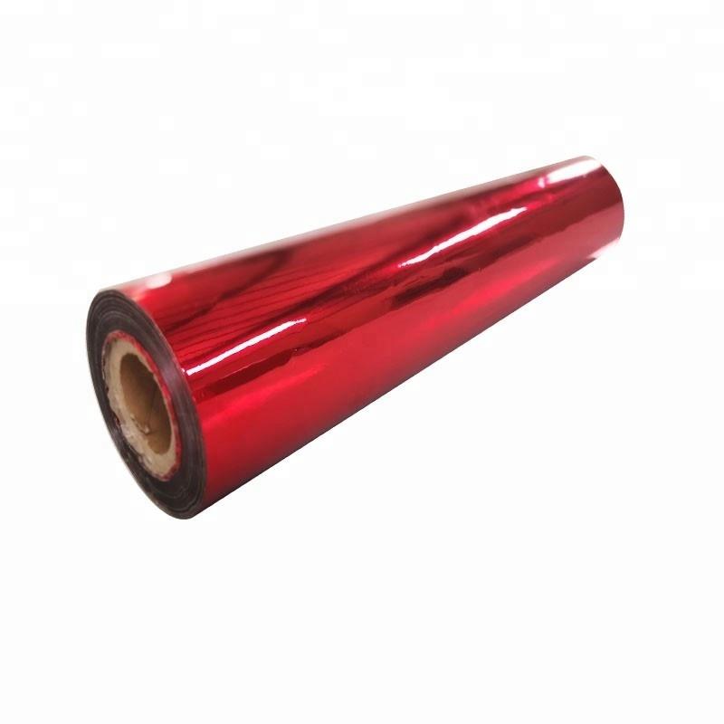 Hot Corona Treated Aluminium PET Metalized Roll Film For Laminating Printing
