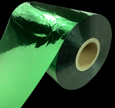 pet metalizedPolyestergreen color thermal lamination film For Paperboard