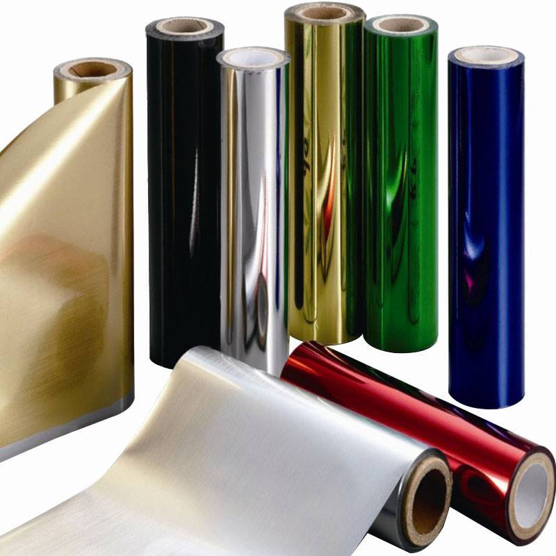 PET silver and gold metamlized thermal lamination film for packaging
