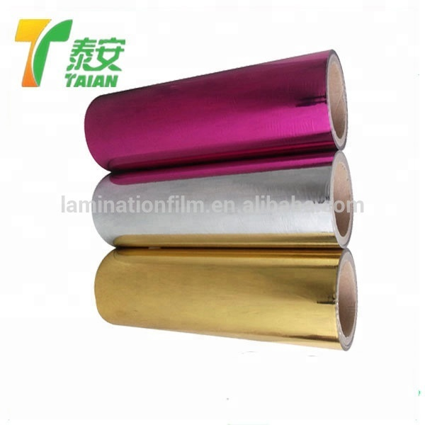 Gloss SliverPET Metalized film Thermal Lamination Film for laminate material