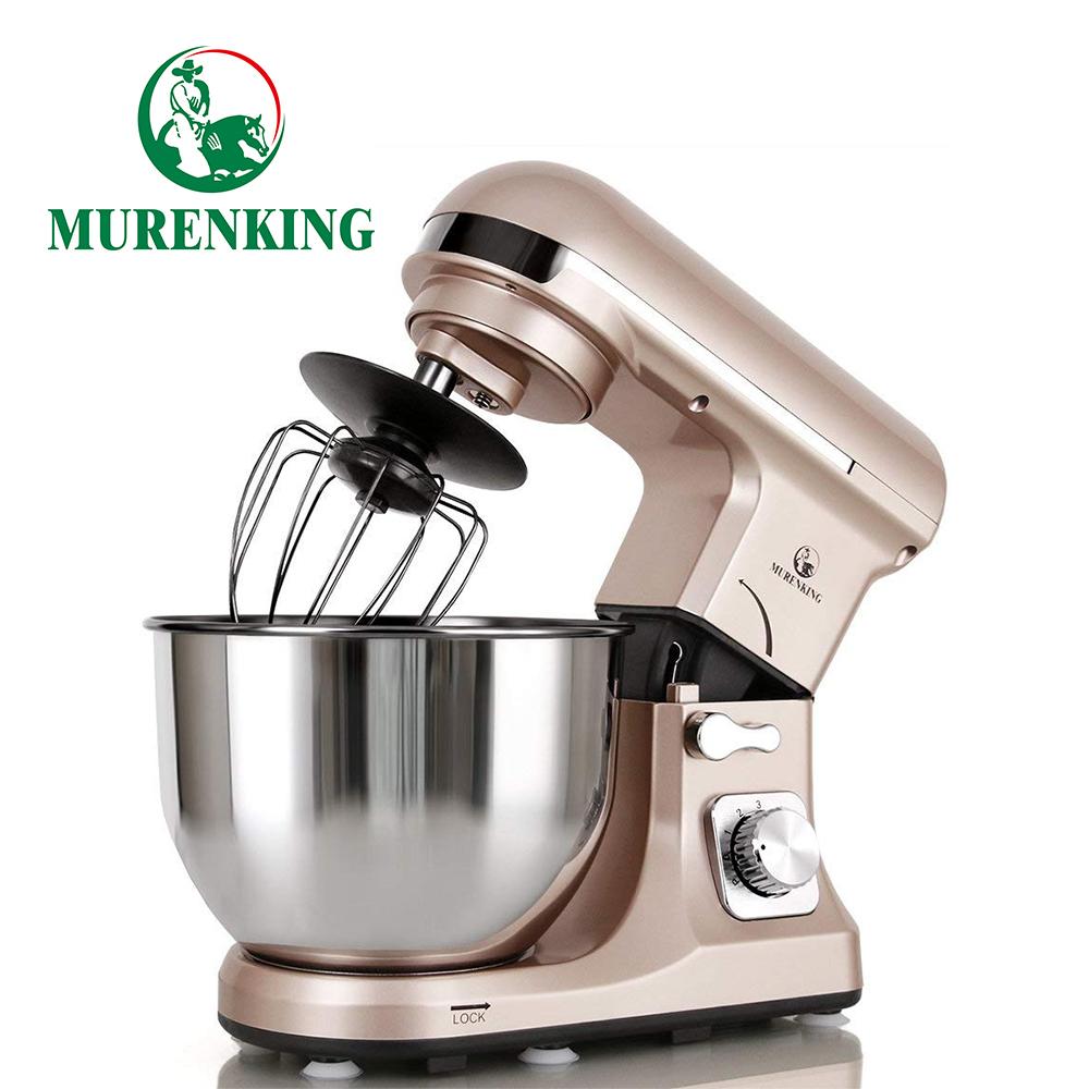 MURENKING Professional Stand Mixer MK37A 500W 5-Qt Bowl 6-Speed Tilt-Head Food Electric Mixer Kitchen Machine