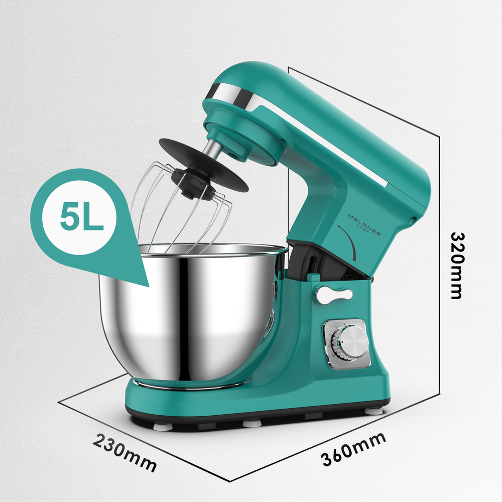 China heavy duty kitchen appliance stand mixer with 5L rotating bowl