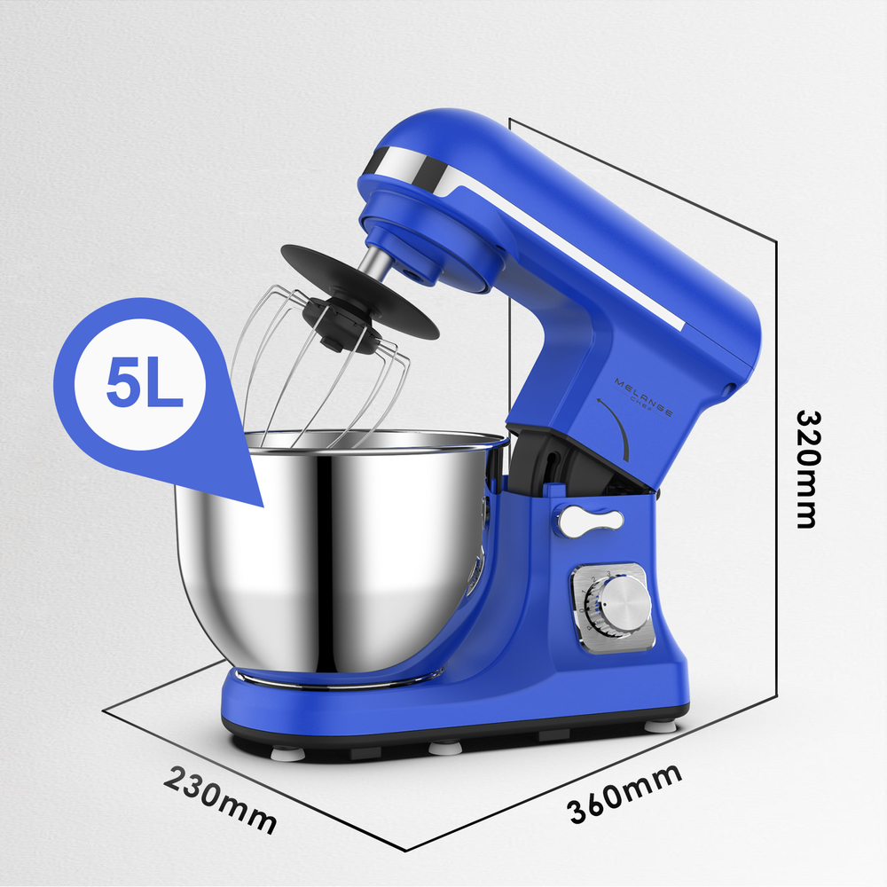 Classic stand mixer for dough kneading with metal housing and S.S. agitator bowl