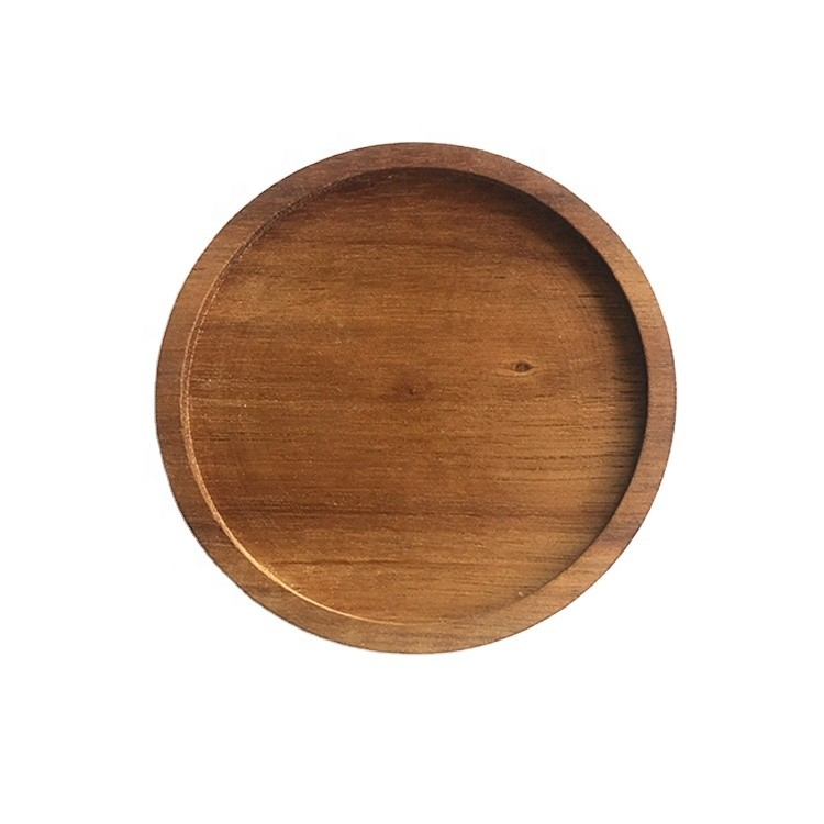 environmental dia 10cm acacia wood coasters round coffee cup wooden mat decoration mat