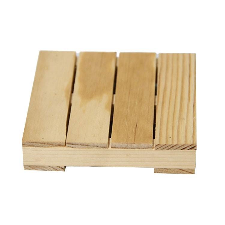Non-slip Wooden tray coaster Wooden pallet coaster Creative Non-slip Insulation cup mat