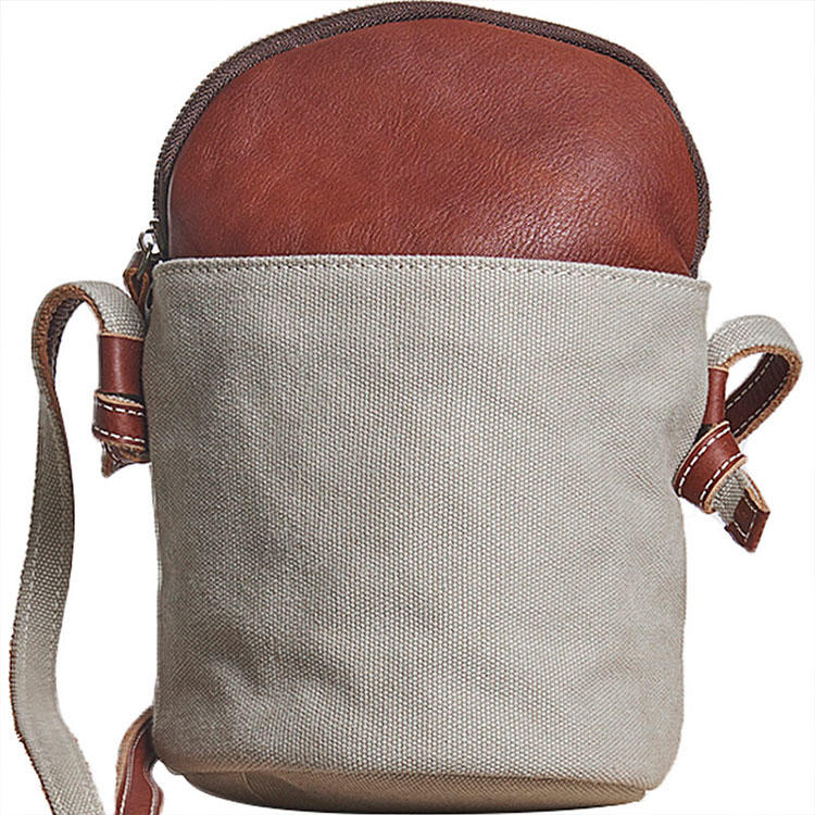 New product 2020 cheap shoulder bag women canvas small girls casual cute bucket bags Cylinder bucket ladies crossbody bags