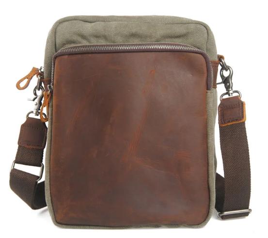 Canvas Vintage High Quality Male Bag Leather Design Canvas Leisure Shoulder Bags