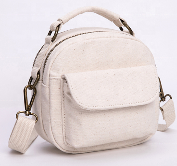 2020 High Quality wholesale mini canvas crossbody bag with single long sling shoulder bag for women
