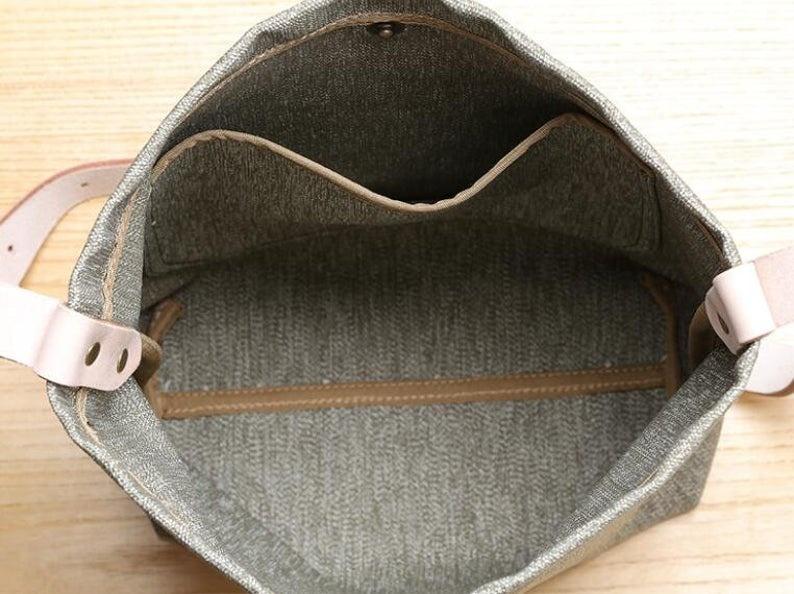 High Quality canvas women Flap Wide Strap Female Shoulder Bag Lady Crossbody Bag