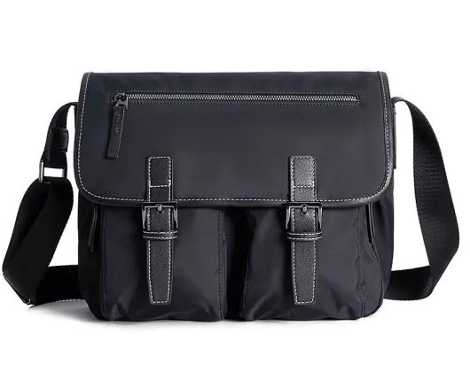 Custom Shoulder Bag Leisure Canvas Waterproof School Bags Leather Business Single Shoulder