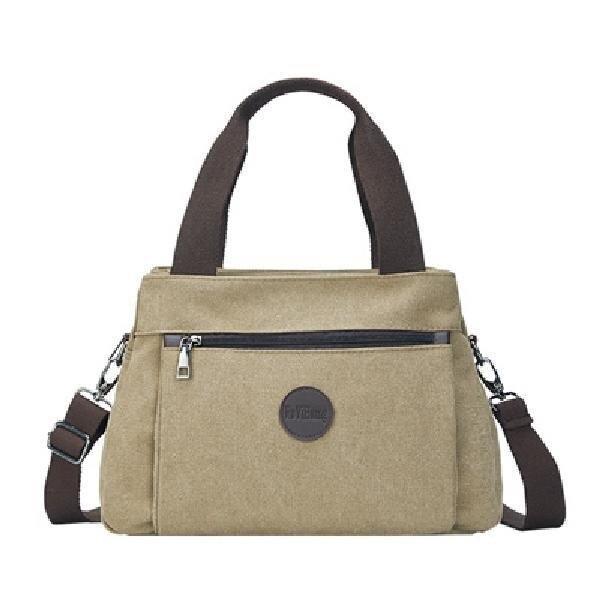 Retro casual women's bag canvas ladies shoulder messenger bag female large capacity multi-compartment Travel Tote canvas bag