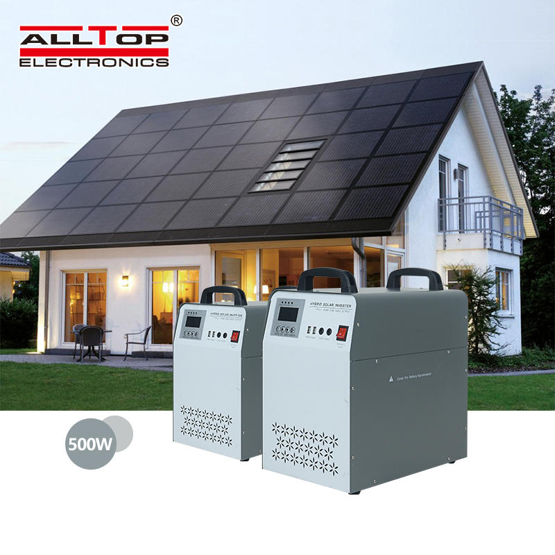 ALLTOP dc to ac pure sine wave inverter with pwm solar charge controllersolar power system