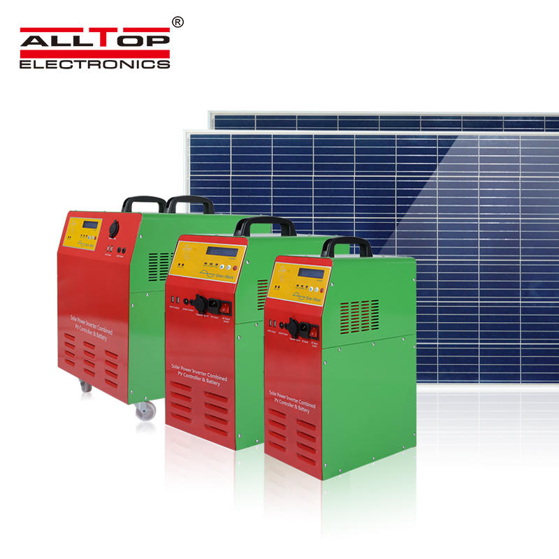 Off grid complete inverter photovoltaic solar power system home 300w 1000w in inverter converters solar energy systems