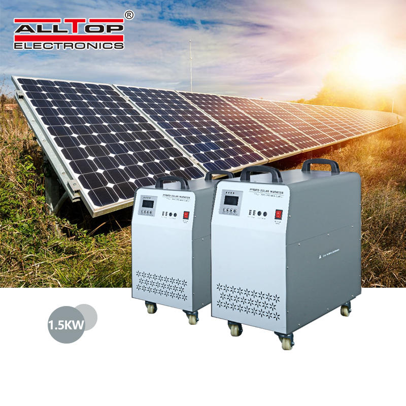 High frequency 220v dc ac off grid 1000watt pure sine wave ac inverter solar panel and inverter home solar power system