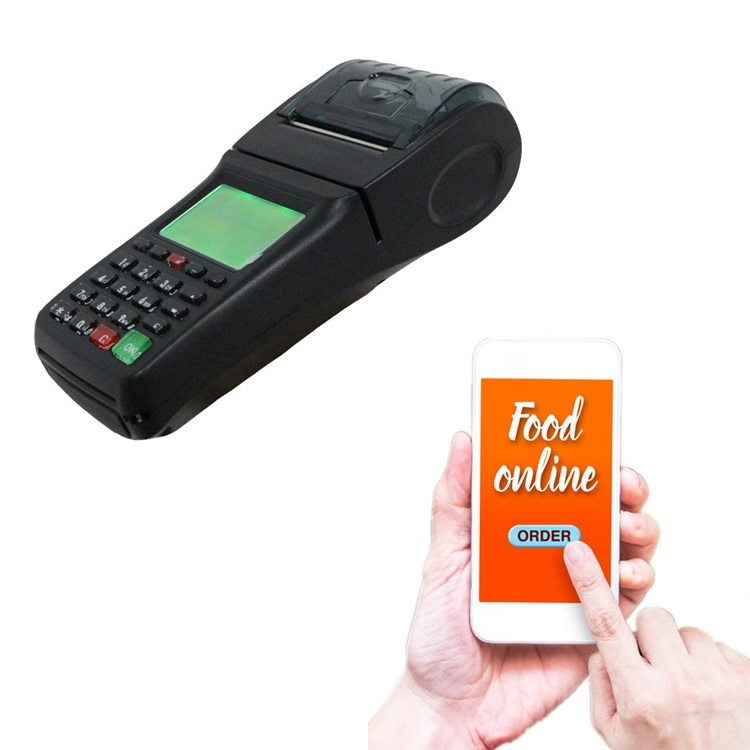 Handheld Retail Shop Billing POS Terminal 3G receipt printer
