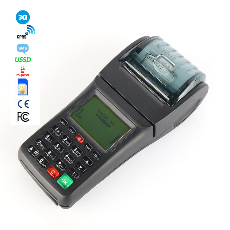 Handheld 3G POS Retail Portable Handy Bill Machine with Thermal Printer