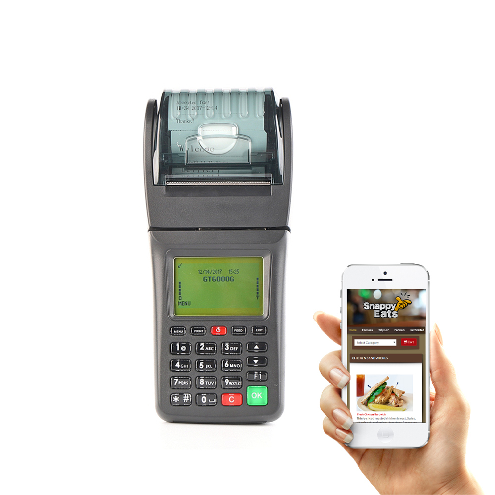 WCDMA Handheld billing pos system for food ordering