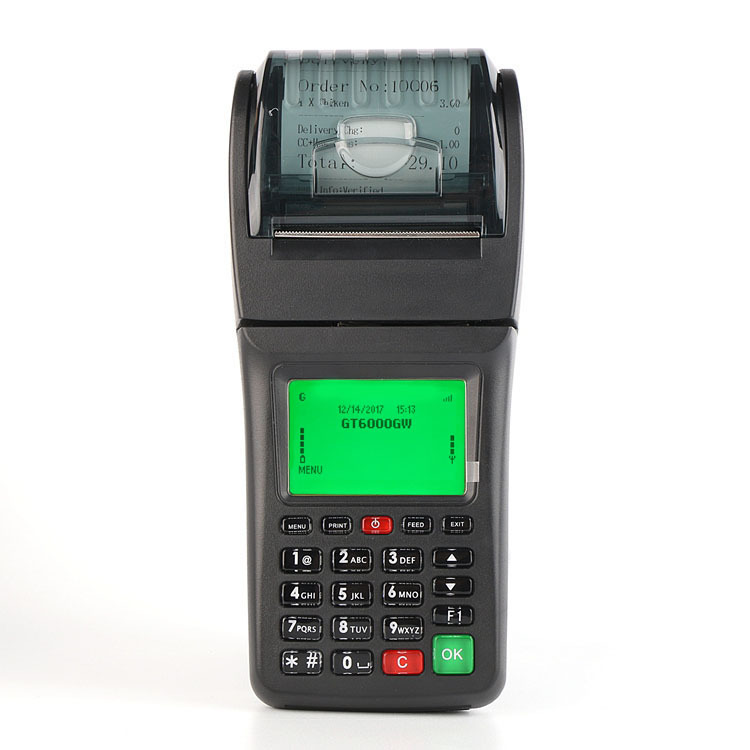 Wireless WCDMA GPRS SMS Restaurant Order Receipt Printer for Food Ordering System