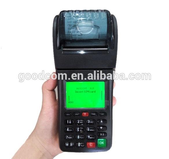 Handheld Airtime Vending Machine GPRS SMS Printer WCDMA Mobile POS Terminal