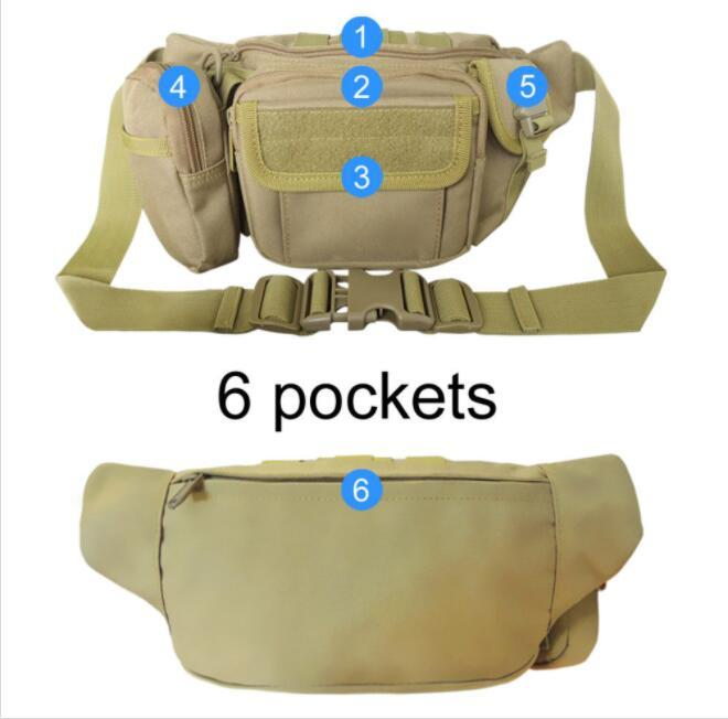 product-Osgoodway-Osgoodway Waterproof Hip Belt Pouch Men Fanny Pack Military Waist Bag for Hiking C