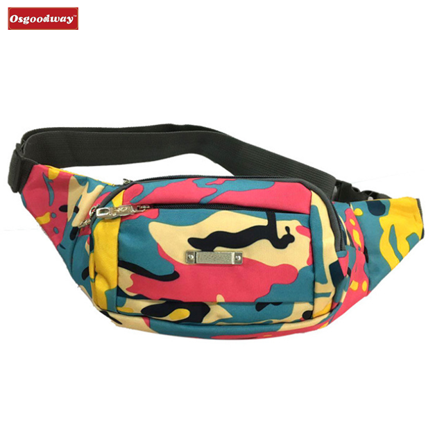 Osgoodway China suppliers Canvas Wholesale Travel Fanny Pack Women Coach Waist Bag for Sports Gym