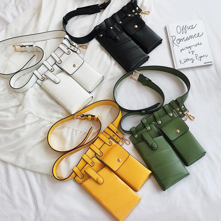 Osgoodway2 Wholesale Price Fashion Women PU Leather Waist Belt Bag Girl Unique Small Women Chest Crossbody Phone Bag