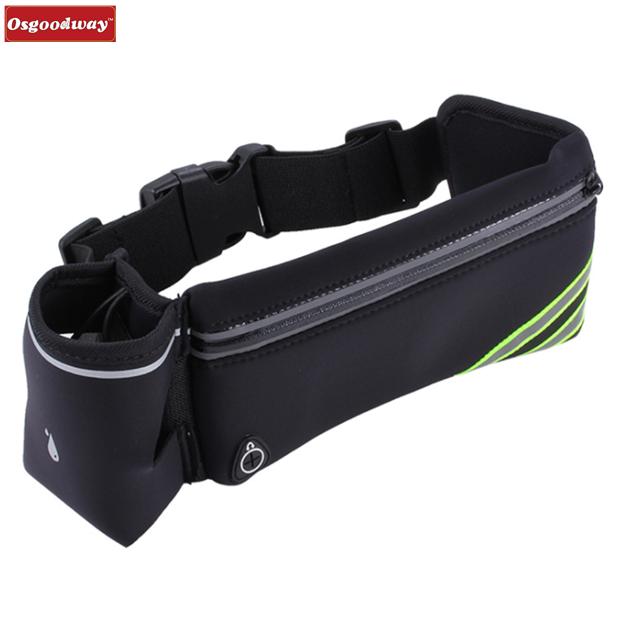 product-Osgoodway Waterproof Fitness Belt Lightweight Waistpack Bumbag Fanny Pack Bum Bags w Water B-1