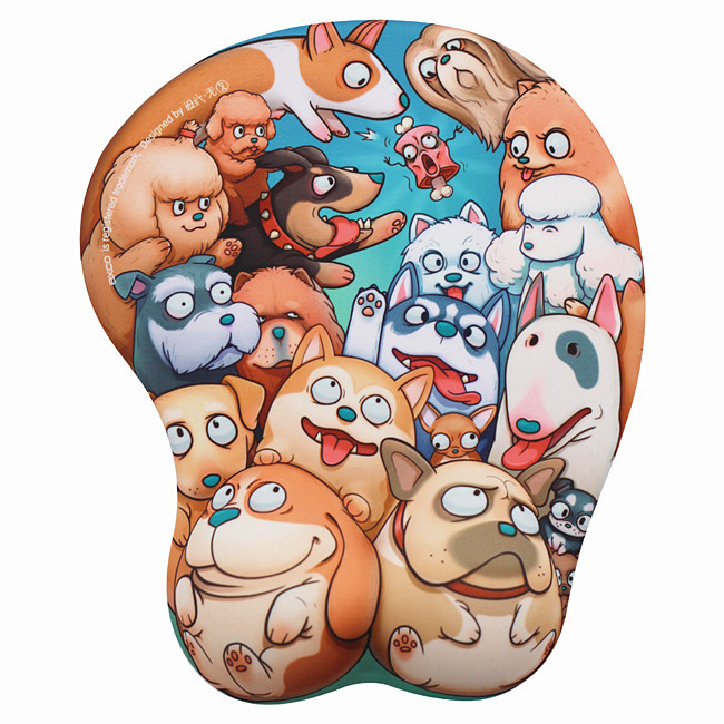 Tigerwings awesome custom gaming soft silica gel 3d arm rest mouse pad for typing