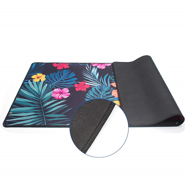 High quality microfiber extended large keyboard mouse pad