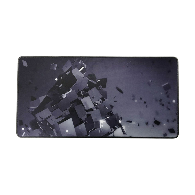 factory directly sales Eco-friendly black custom large size gaming mouse pad
