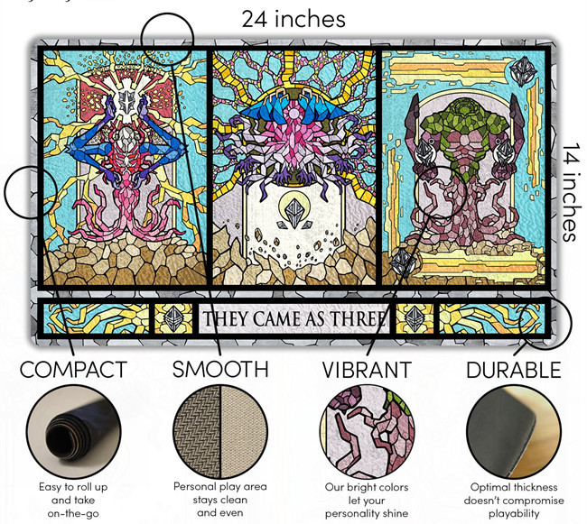 Tigwewings 2020 new fashion card game play mat, rubber mat with custom printing