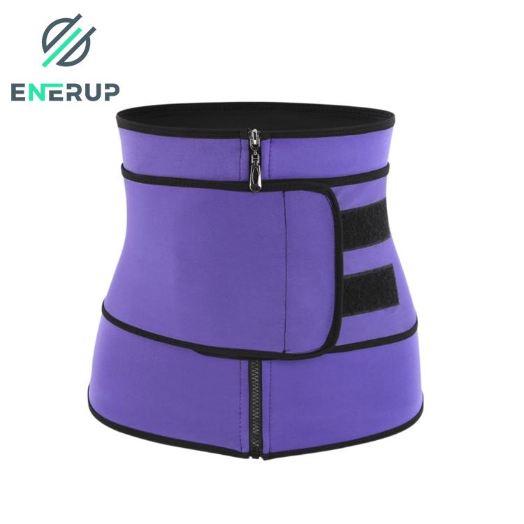 Enerup Private label Neoprene Sweat Waist Support Trainer Corset Trimmer Belt for Women Weight Loss Waist Cincher Shaper Slimmer