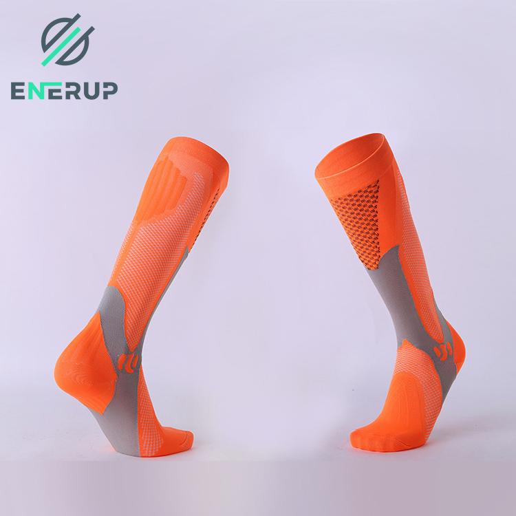 Enerup Drees Geometric Pattern 20-30 Mmhg Foot Football Basketball Anti Slip Compression Medical Pantyhose Socks Xxl Men Gym