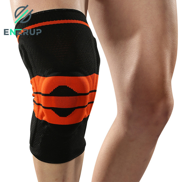 Enerup Nylon With Silicone GenouilleRe Spring Pads Knee Sleeve Cap Support Brace