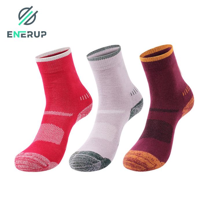 Enerup Calcetines Personalizados Custom Soft Cabin Casual Merino Woolen Calcetines Chinos Al Mayoreo Women Men Winter Wool Sock