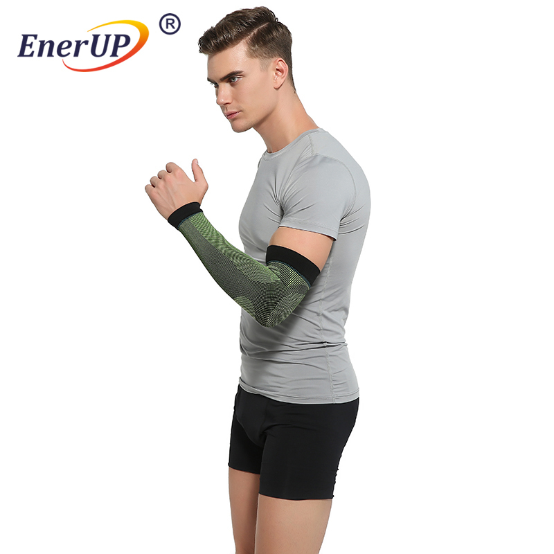 OEM welcomed copper compression tennis sport arm elbow braceelbow sleeve
