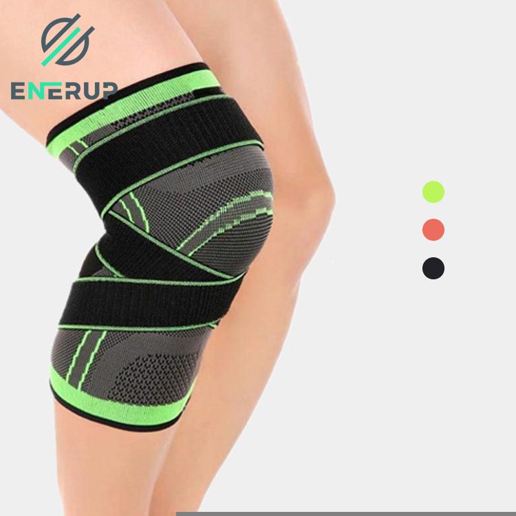 Enerup Volley Kneepad Waterproof Weaving Weight Lifting Post Op Volleyball Knee Pads Brace Sleeve